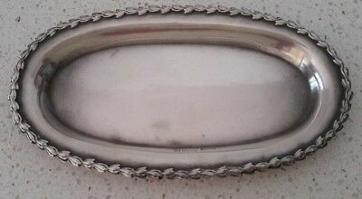 MAPPIN & WEBB ANTIQUE Vintage STERLING SILVER small oblong dish