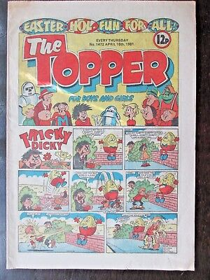 THE TOPPER COMIC. NO.1472  EASTER ISSUE. APRIL 18th, 1981