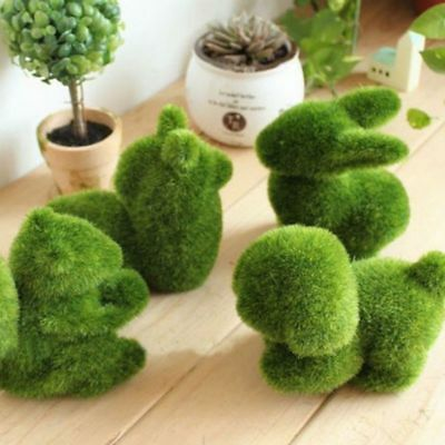 Artificial Turf Grass Animal Ornament Handmade Plant Garden Lawn Decor Gift Home