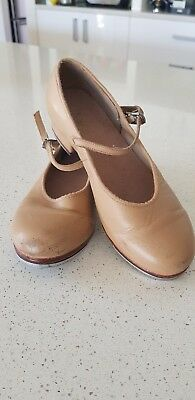 Girls Bloch Tan Tap Shoes Size 6