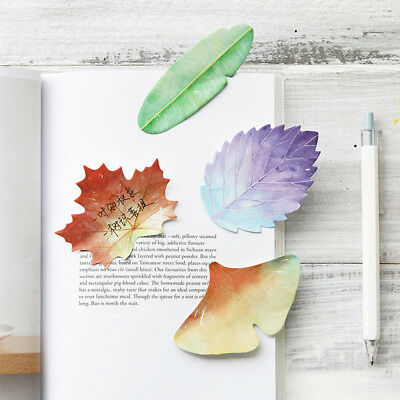 Cute Natural Plant Leaf Memo Pad Sticky Notes Notepad Kawaii Stickers Note Paper