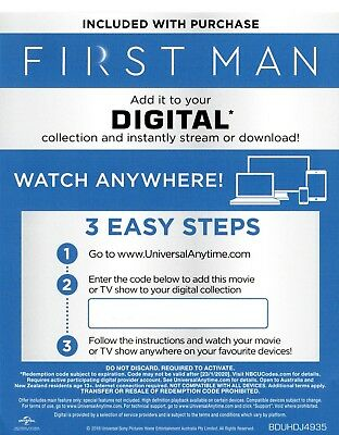 First Man Digital Code ONLY