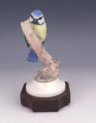 Vintage Albany Fine China Company - Hand Painted Blue Tit Figure - Lovely!