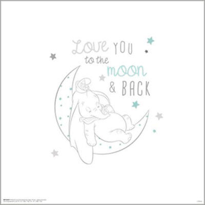 Dumbo Classic - Moon And Back POSTER PRINT 40x40cm BRAND NEW