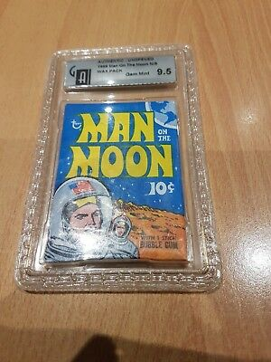 1969 Man On The Moon  10 Cent Sealed  Wax Pack Graded 9.5 Gem Mint. Rare