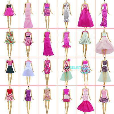 5Pcs Random Handmade Mini Lovely Dress Party Gown Clothes For 12 in. Doll Gift