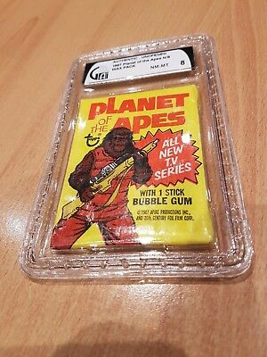 1967 Planet Of The Apes Wax Pack Graded Gai 8 Near Mint-Mint Rare