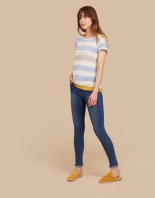 Joules Womens Nessa Jersey T shirt 20 in BLUE GOLD BOLD STRIPE Size 20