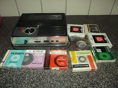 Vintage National reel to reel Tape Recorder player Model-102s + tapes free post