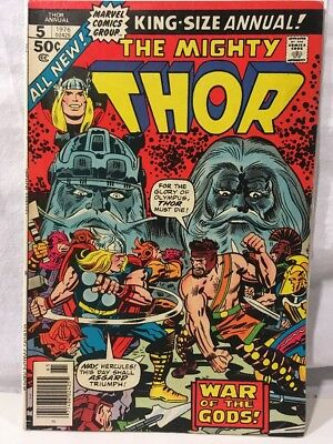 Bronze Age Marvel Comics King Size Annual Thor No.5 Jack Kirby, Stan Lee VF-