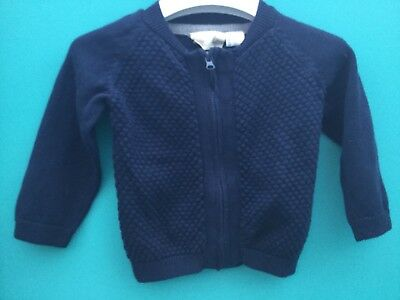 Lupilu: Baby Boy 3-6 months, Blue, L/S, Zip Front, 100% Cotton Cardigan