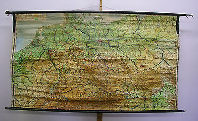 Schulwandkarte Wall Map German Reich Empire ~ 1934 76 3/8x43 5/16in