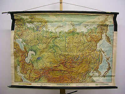 Schulwandkarte Wall Map Map Nordasien Asian Russia Soviet Union 128x88 1947