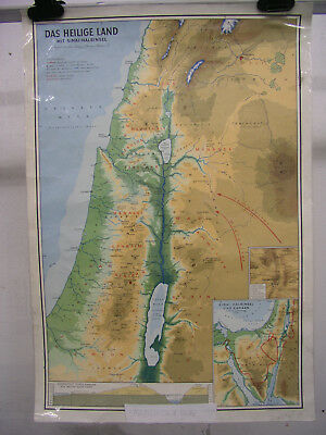 Wall Map Holy Country with Sinai Palestine Bibelkunde Schulmann 4118