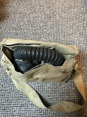 Respirator & Haversack. 1942 Dated. WW2 Army Navy Air Force Home Front