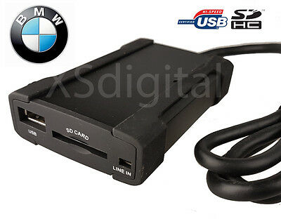 Xcarlink BMW USB/SD Interface Adapter + AUX for E46 E39 E38 Round Plug & Play