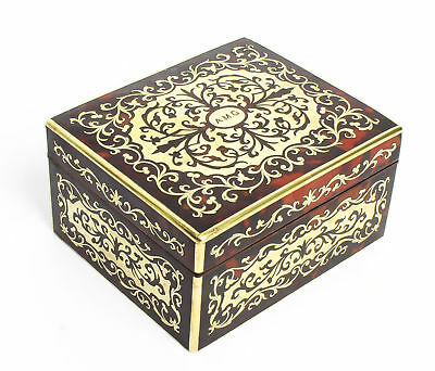 Antique Asprey Boulle and Cut Brass Marquetry Box 19th C