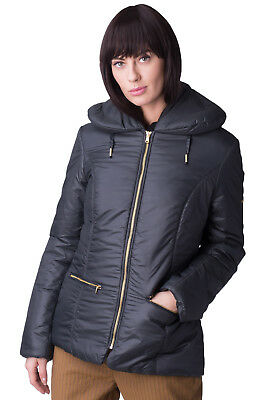MET Puffer Jacket Size S Black Padded Full Zip Collared BEVY RRP €195
