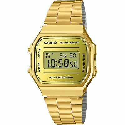 Official Classic Gold Illuminator Watch A168WG-9EF from Casio