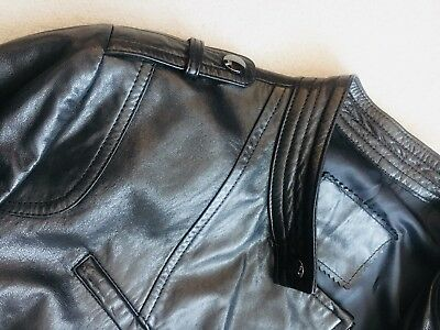 Real Lamb Leather Pilot Jacket Top Quality Size 10 Brand New