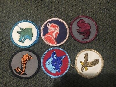 Older Lot Of 6 Patrol Patches Boy Scouts
