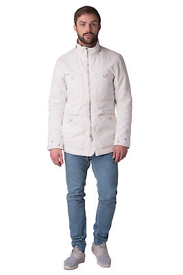 RRP €300 DIESEL Size L Men's W-FROZEN Padded Elbow Patches Full Zip Parka Jacket