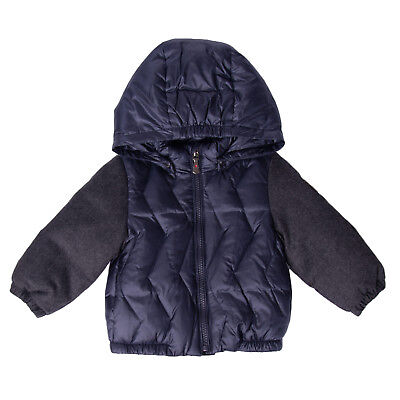 BREST Down Quilted Jacket Size 3-6M Wool Sleeve Detachable Hood Full Zip RRP€280