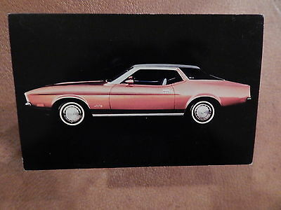 Nos 71 Mustang Original Ford Issue Sales Mailer Photo Postcard 1971 Grande Coupe
