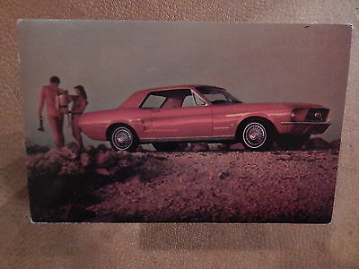 Nos 67 Mustang Original Ford Issue Sales Mailer Photo Postcard 1967 Coupe