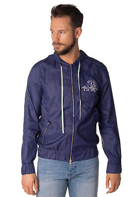 GUESS Windcheater Jacket Size 48 / M Elasticated Hem Full Zip Hooded RRP €170