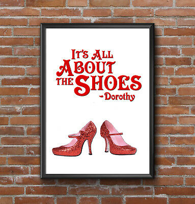Kinky Boots Quote PosterPrint Red