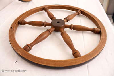 Holzrad für Spinnrad Rad Holzarbeiten  /Old wooden wheel for spinning wheel
