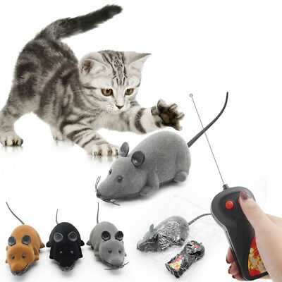 Funny Wireless Remote Control Electronic Flocking Simulation Mouse Toy Cat Gift
