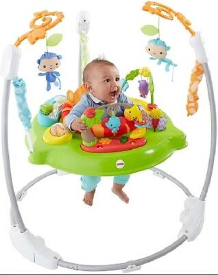 Fisher Price Baby Jumper Roarin Rainforest Jumperoo Music Sounds Lights