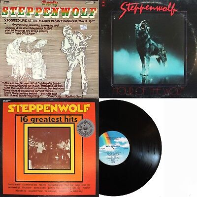 Steppenwolf - 3 LP Lot - Early Steppenwolf, Hour Of The Wolf & 16 Greatest Hits