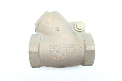 Hammond Bronze Swing Gate Check Valve 2in Npt