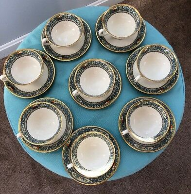 LENOX Autumn Set of 8 Teacup Teacups and Saucer Saucers Excellent Condition!