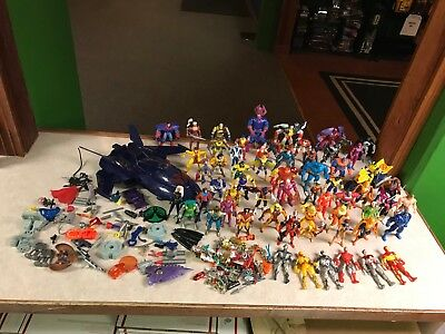 MASSIVE ToyBiz Marvel Universe X-Men X-Force Figure Weapons Blackbird 1990's LOT