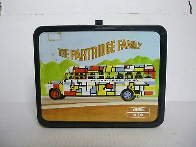 Vintage 1973 The Partridge Family Thermos Metal Kids Lunchbox
