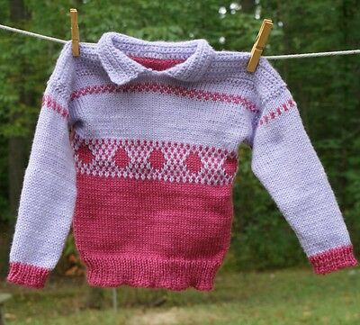 Children's Sweater Size 4 knit sweater for children mauve and lavender