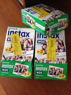 Fujifilm Instax Wide - Color instant film ISO 800 Lot 3 packs 60 sheets