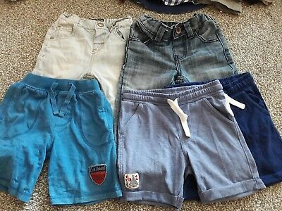 Boys Trousers & shorts bundle 12-18 months Next Mothercare F&F