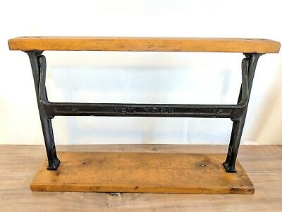 """Vintage Paper Roll Cutter Wrapper General Store Butcher New York 15"""" Cast Iron"""