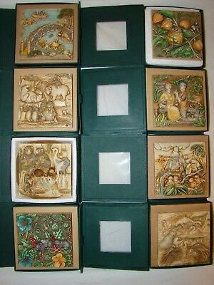 Lot of 8 Harmony Kingdom Picturesque tiles in original boxes