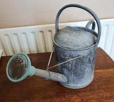 antique vintage galvanized 1 gallon WATERING CAN