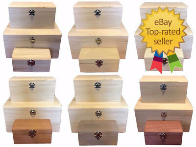 Small Wooden Jewellery Boxes Plain Unfinished Wood Trinket Box