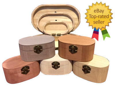 Personalised Large to Small / Plain or Painted Wooden Oval Boxes Engraved Box