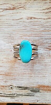 Heavy/large Navajo vintage sterling turquoise museum quality cuff