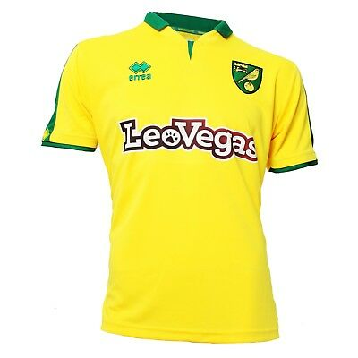 Official Norwich City Fc Replica Home Shirt 2017-2018 Short Sleeve