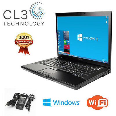 Dell Latitude Laptop WiFi DVD/CDRW 15.4' LCD Windows 10 Notebook Computer + 4GB